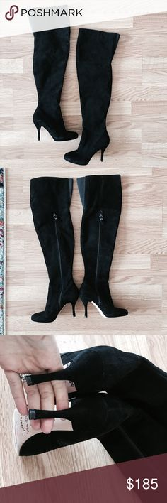 Via Spiga Suede OTK boots Super beautiful . New without box . No trades. Via Spiga Shoes Over the Knee Boots