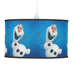 Dancing Olaf from Disney Frozen pendant lamp would be the ultimate lighting fixture (or gift idea) for a fan of Disney's Frozen movie and especially cute little old Olaf.