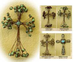 HandMade Wire Gemstone Crosses