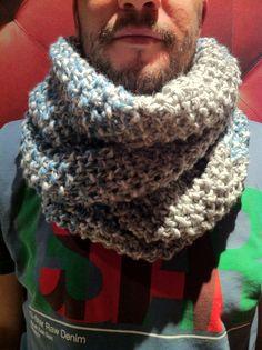 Resultado final!! Cuello lana. Knitting.
