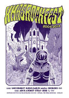 Xmasrockfest poster by burnay