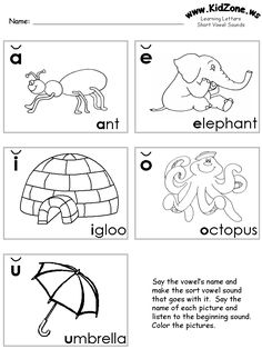 Learning Long Vowels: A to U   Long vowels and Phonics