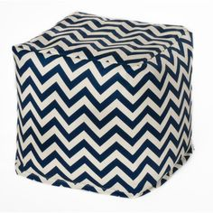 Chevron Bean Bag Chair Upholstery Navy