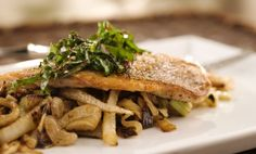 Bryan Caswell's Crispy-Skin Snapper with Grapefruit-Fennel & Swiss Chard Agro Dulce