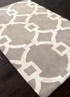 Jaipur Rugs RUG111617 Hand-Tufted Geometric Pattern Wool/ Art Silk Gray/Ivory Area Rug ( 2X3 )