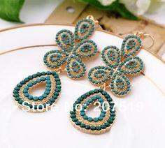 Elegant Bohemian Dangle Olive Drop Earrings