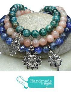 WEIGHT LOSS Gemstone Bracelet. A Powerful Combo: Apatite, Sunstone and Sodalite. Genuine Gemstone, Charm Bracelet handmade by Mirilya. from Mirilya https://www.amazon.com/dp/B01LFXLYF0/ref=hnd_sw_r_pi_awdo_zALgybSG4SWT2 #handmadeatamazon