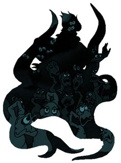 "Ursula Sillouette- poor unfortunate souls by CMWatts.deviantart.com on @DeviantArt - From ""The Little Mermaid"""