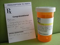 Prescription For the Graduate, Congratulations Card. PineappleHop · Pharmacy Gifts