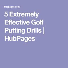 This hub gives you awesome putting drills to help you sink more putts. These drills keep your mind engaged and focused while practicing your putting. Putting Tips, Golf Putting, Golf Videos, Golf Exercises, Putt Putt, Golf Fashion, Drills, Golf Tips, Golf Style