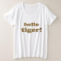 Hello Tiger! Fun Tigerprint T-Shirt - fun gifts funny diy customize personal