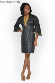 Black and Gold African Dress