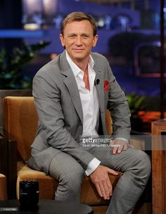 Actor Daniel Craig appears on The Tonight Show with Jay Leno at the NBC Studios on July 20, 2011 in Burbank, California.