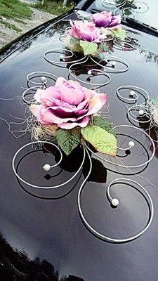 Kup teraz na allegro.pl za 11,00 zł - DEKORACJA na samochód, ślub, wesele PROMOCJA !!! (6955990911). Allegro.pl - Radość zakupów i bezpieczeństwo dzięki Programowi Ochrony Kupujących! Modern Floral Arrangements, Floral Centerpieces, Flower Arrangements, Wedding Car Decorations, Flower Decorations, Wedding Vans, Bridal Car, Fleur Design, Cute Wedding Ideas