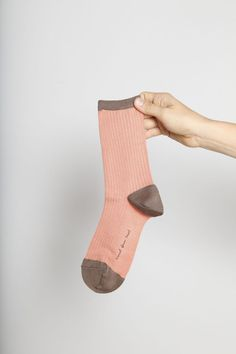 Also available in Mustard/Grey in our shop!  -------  HANSEL FROM BASEL  Silk Colorblock Crew Socks