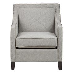 Jofran LUCA-CH-ASH - Upholstered Accent Chairs Ash Luca Club Chair with Nail Head Trim | Sale Price: $379.50