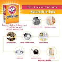 Check it out - what can Baking Soda do with your home cleaning? - How to clean your home using soda buy TidyMom.net