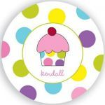 $27.95 Personalized Pink Cupcake Plate