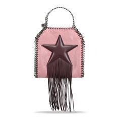 Burgundy Falabella Fringed Star Tiny Tote - Stella Mccartney Official Online…