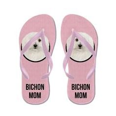 Bichon Frise Mom Flip Flops> Bichon Frise Mom> Cafe Pets #bichon #bichonfrise