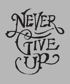 Never Give Up t-shirt  | Lettering by @Jon Contino for @Help Ink