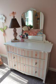 handpainted vintage dresser. $425.00, via Etsy.
