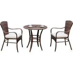Panama Jack Key Biscayne 3 Piece Bistro Set with Cushions & Reviews | Wayfair