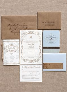 Wedding invitation ideas plus lots of other cute ideas from a Colorado wedding at the blog