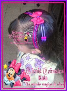minni peinados kata - Google Search Little Girl Hairstyles, Cool Hairstyles, Cool Hair Designs, Corte Y Color, Hair Art, Diana, Little Girls, Braids, Victoria