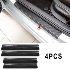 Buy Vehemo Black Car Door Plate Stickers Carbon Fiber Look Car Sticker Sill Scuff Cover Anti Scratch Decal Universal For All Car 996 4s, Black Front Doors, Carbon Fiber Vinyl, Ticket Holders, Piece Auto, X Car, Door Stickers, Chevrolet Cruze, Car Covers