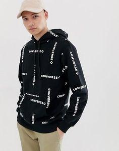 Buy Converse Logo Hoodie in Black at ASOS. Get the latest trends with ASOS now. Trendy Hoodies, Zip Up Hoodies, Mens Sweatshirts, Asos Sweatshirt, Vertical Striped Shirt, Converse Logo, Leather Jacket With Hood, Sleeveless Hoodie, Boys Shirts