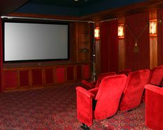 Home Theater Room with vintage seats!