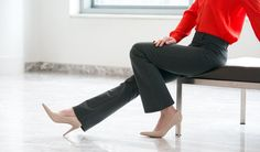 Gray Dress Pant Yoga Pants are ultra-comfy, boot-cut yoga pants are also appropriate for the office. Now available in a boot-flare style.