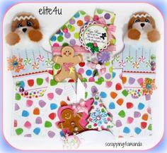 ELITE4U KAM Christmas Premade Tear Bear Paper Piecing for Scrapbook Page Album | eBay