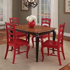 Home Styles French Countryside And Oak 5 Piece Dining Set