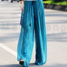 Cheap trouser stand, Buy Quality trousers sport directly from China pants polyester Suppliers: New 2015 Spring Summer High Quality Double Layer Chiffon Loose Skirted Wide Leg Pants Woman European Casual Trousers Plus Size