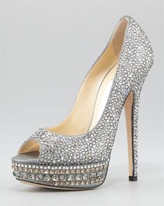 Kendall Beaded Platform Pump by Jimmy Choo at Neiman Marcus.
