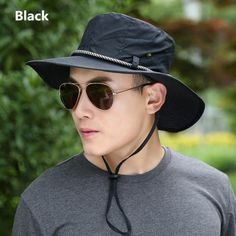 0c5130e2557 Mens outdoor bucket hat alpine fishing sun hats UV package