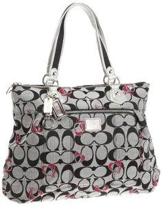 Coach Limited Edition Hearts Signature Glam Shopper Bag
