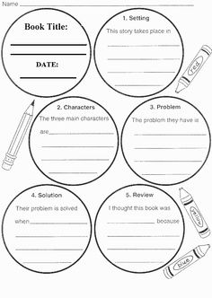Book Report Template | fictional book report template