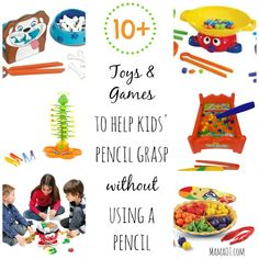 10+ toys and games to help kids pencil grasp...without using a pencil! Recommended by an occupational therapist. #finemotor #christmas #childdevelopment