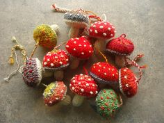 Two of my favs--mushrooms and knitting!   Found on Ravelry: norskiknits' Mushrooms