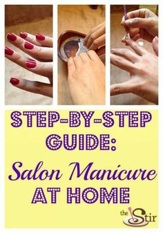 Wow! This is a HUGE money-saver! Get a Glam Salon Manicure At Home (PHOTOS) http://thestir.cafemom.com/beauty_style/163497/get_a_glam_salon_manicure?utm_medium=sm&utm_source=pinterest&utm_content=thestir