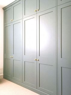 Built in Wardrobe Fitted wardrobe Bedroom Storage Victorian Terrace Farrow Ball Oval Room Blue farrowandball Bedroom Built In Wardrobe, Fitted Bedroom Furniture, Fitted Bedrooms, Diy Wardrobe, Closet Bedroom, Master Bedrooms, Wall Of Closets, Wardrobes For Bedrooms, Build In Wardrobe