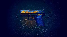 Download P2K Pistol Fire Elemental Counter Strike Global Offensive Weapon Skin 1920x1200