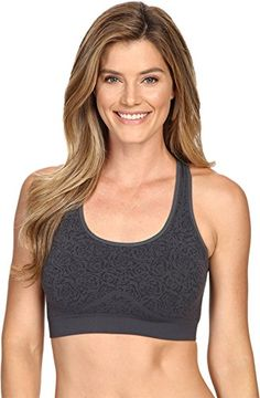 Fila Womens Running With Roses Seamless Bras Ebony Jacquard M ** Continue to the product at the image link.(This is an Amazon affiliate link)