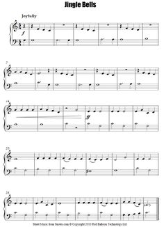 Jingle Bells (easy) sheet music for Piano - 8notes.com
