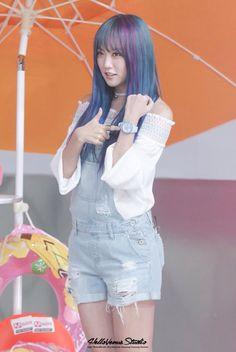 Lime Nara, Kpop Girl Groups, Kpop Girls, Girl Bands, Overall Shorts, Pretty Woman, Dyed Hair, Asian Beauty, Asian Girl