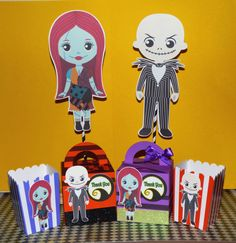 Nightmare before Christmas inspired treat box, centerpieces and Popcorn Boxes  CREATE YOUR OWN PACKAGE Select which items you would like by