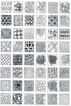 Inspired By Zentangle: Patterns and Starter Pages Mandala Art Lesson, Mandala Drawing, Zentangle Drawings, Doodles Zentangles, Doodle Patterns, Zentangle Patterns, Tangle Doodle, Doodle Art, Sketch Notes